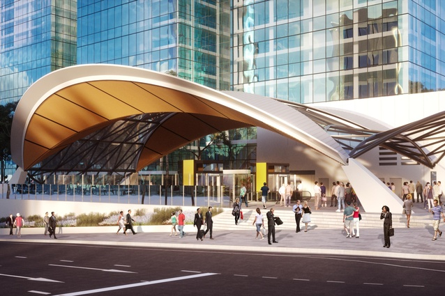Sydney Metro Northwest's Norwest station, designed by Hassell.