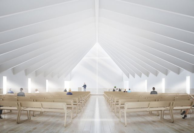 Hogg and Lamb's design for the Kenmore Presbyterian Church in Brisbane's Pullenvale will work to offer a grand spatial experience within a modest scale that is respectful of its residential setting.