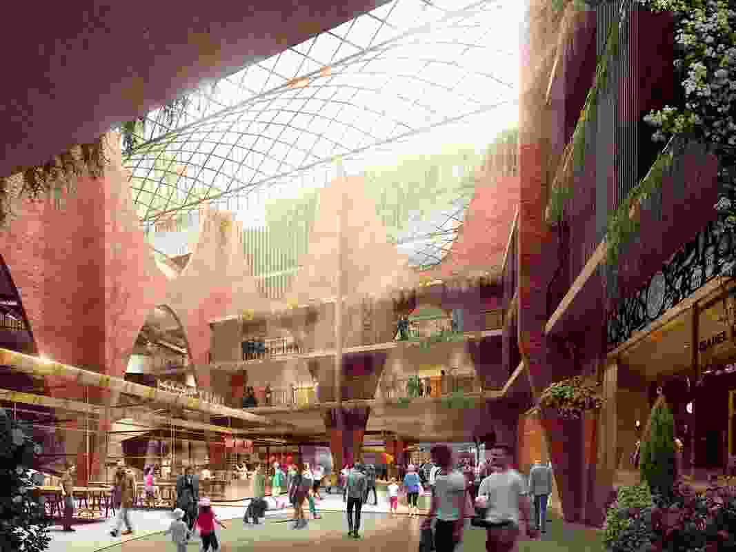 Adelaide's Central Market Arcade redevelopment designed by Woods Bagot will include a public hall.