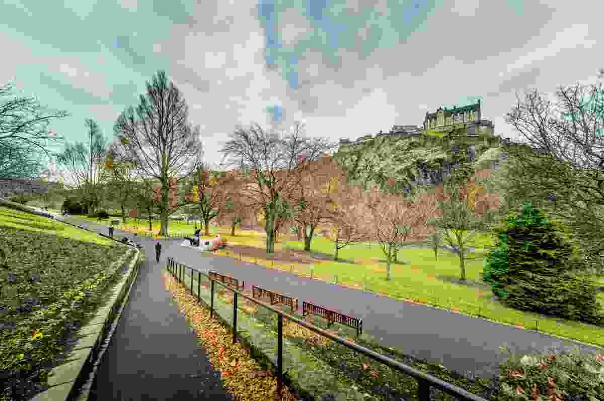 Edinburgh's West Princes Street Gardens.