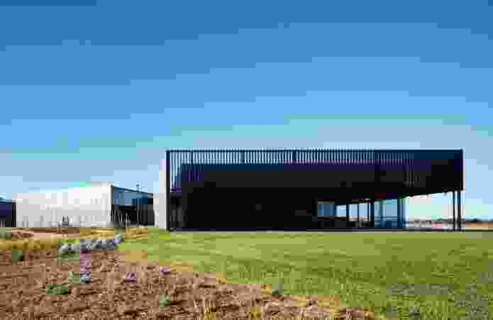 The buildings accommodate a range of functions, from administrative and laboratory areas to infrastructural components.