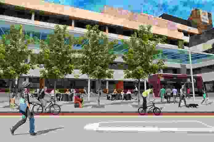 Collage from the Central Institute of Technology Precinct Plan by City of Perth.