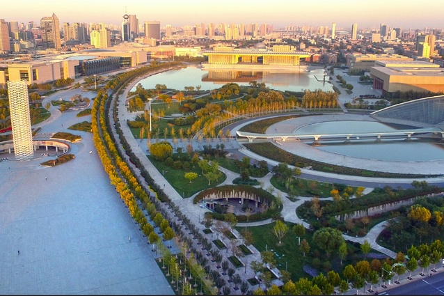 Tianjin Cultural Park by Ramboll Studio Dreiseitl Pte Ltd, Tianjin, China.