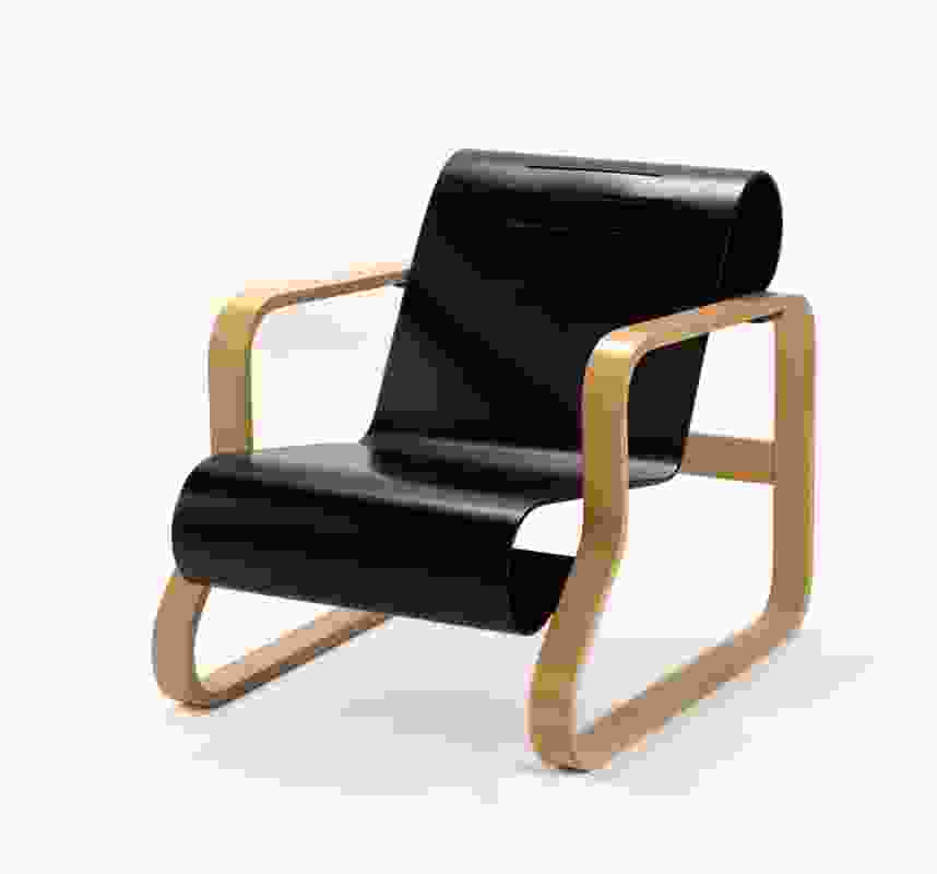Armchair 41 designed by Alvar Aalto, manufactured by Artek.