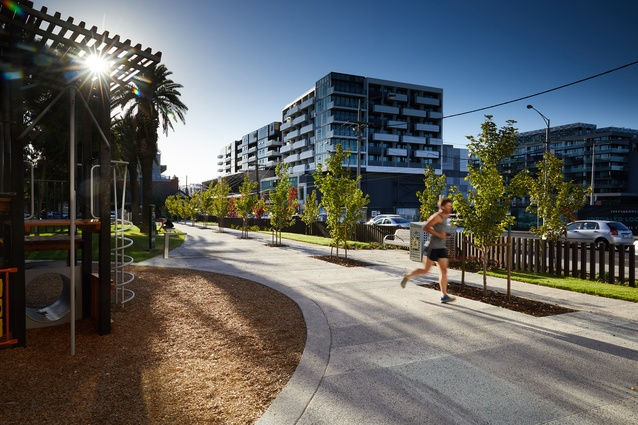 Williams Reserve, Richmond by Hansen Partnership.
