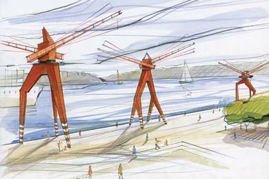 Tidal cranes by Jennifer Turpin, from the HTBI competition scheme.