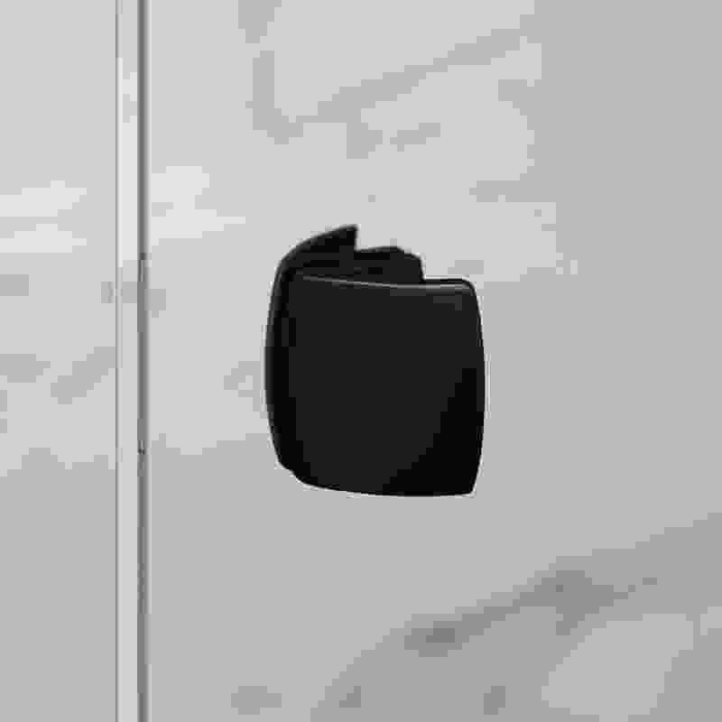 Grange Black inline shower screen handle.