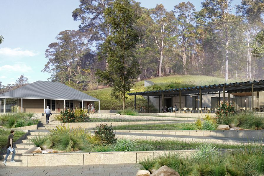 The expansion to Arthur Boyd's Riversdale property, deigned by Kerstin Thompson Architects.