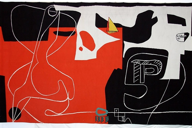 The tapestry <i>Les Dés Sont Jetés</i> ('The Dice Are Cast') by Le Corbusier was commissioned by Jørn Utzon for the Sydney Opera House in 1958.