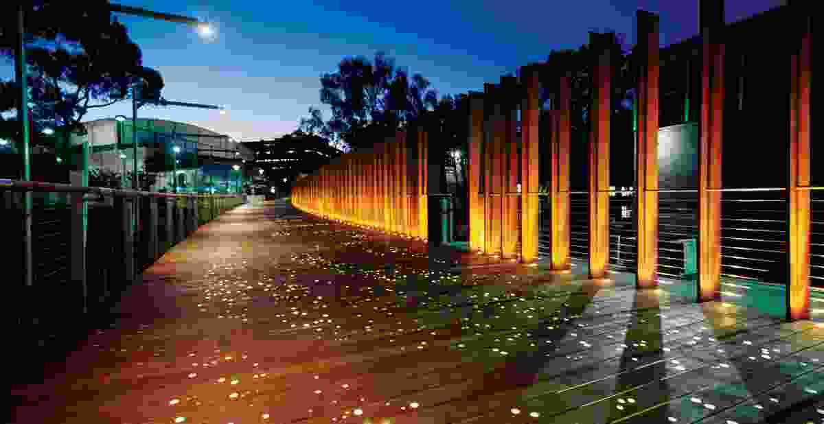The stellar allusions in the scheme are made literal in the earthy and captivating entry to the Darlington campus.