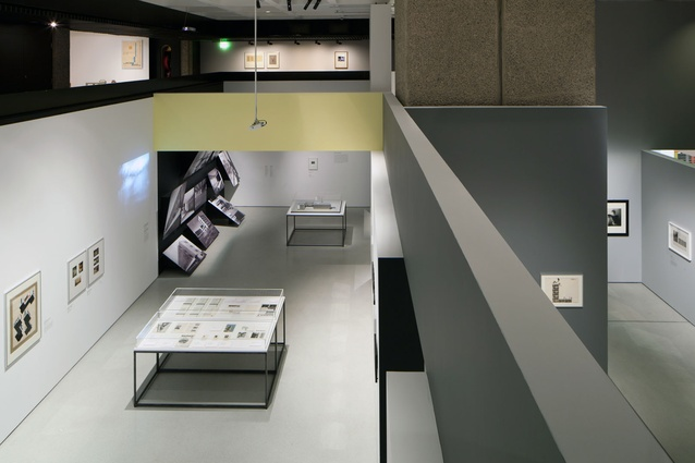 View down into the gallery space.