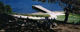 Amphitheatre and jetty at Burrogi Point, Sydney, by Craig Burton. Image: Peter Bennetts.