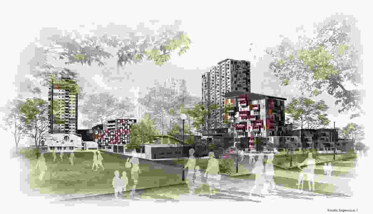 Student winner – Urban Renaissance, Atherton Gardens RE by Kiang How Tan.