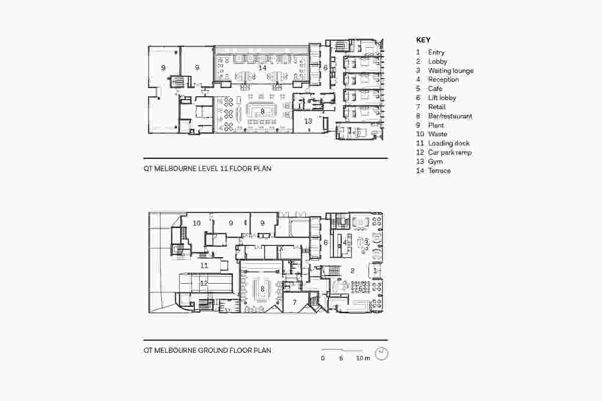 QT Melbourne floor plans.