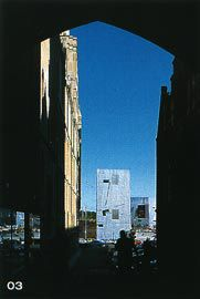 Federation Square seem from the city's laneways. Looking from Flinders Lane, through St Paul's, to the eastern shard.Image: Derek Swalwell.