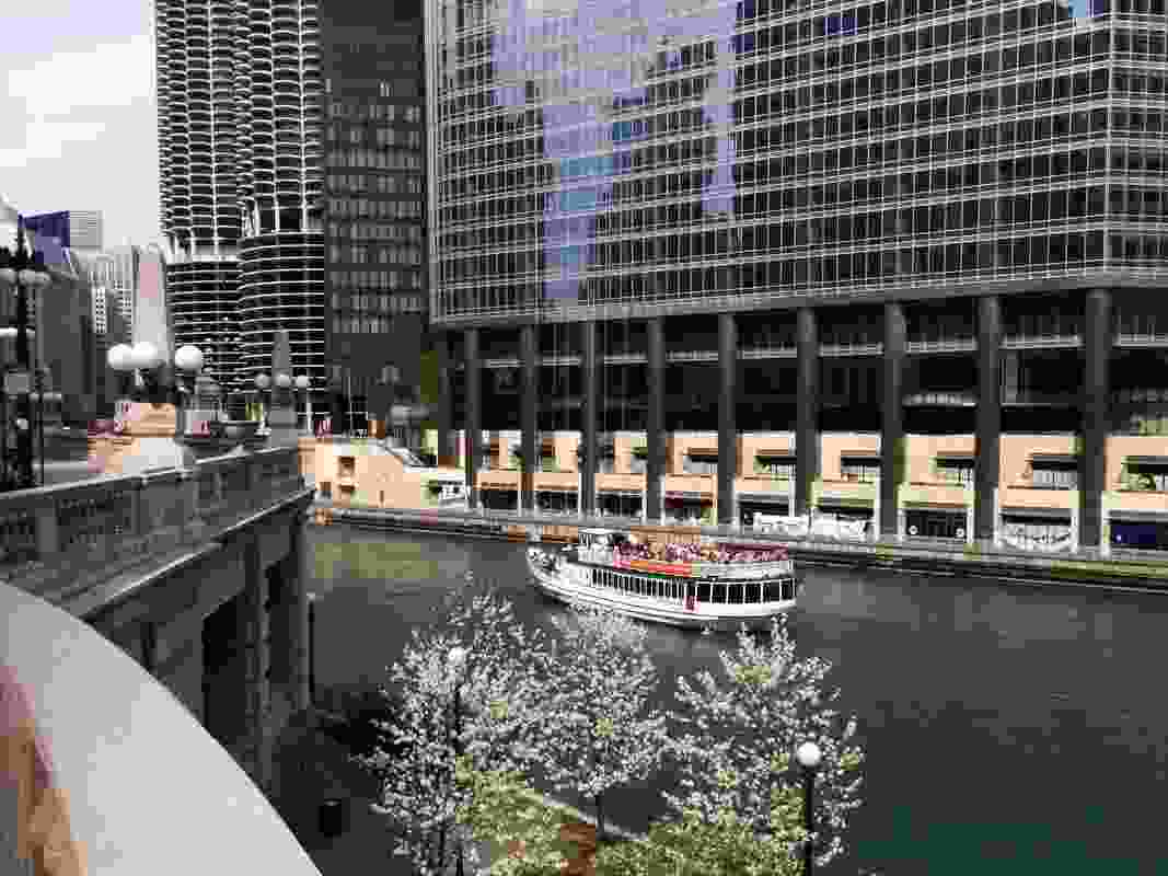 Chicago Architecture Foundation (CAF) boat cruise on the Chicago River.