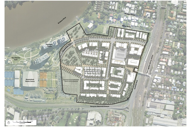 Yeerongpilly TOD, Detailed Plan of Development by Deicke Richards.