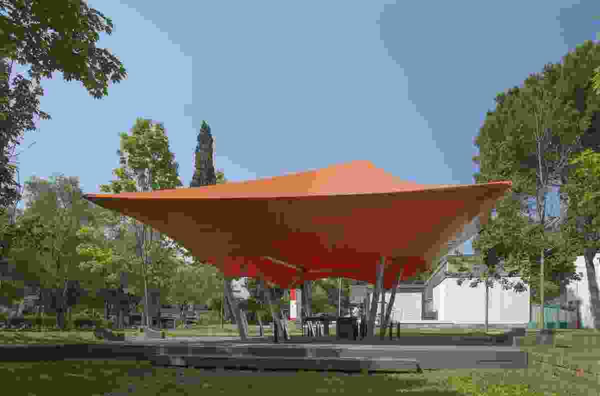 Cloud Space, the temporary Australia Pavilion at 2014 Venice Architecture Biennale.
