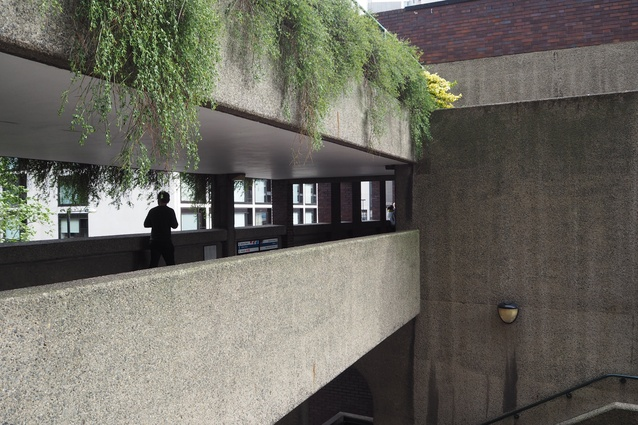 Circulation bridges at the Barbican Estate.