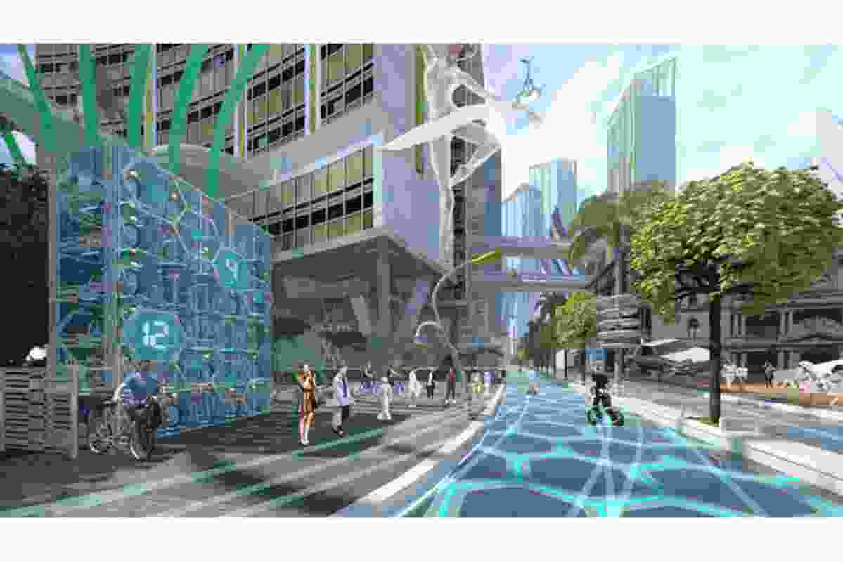 Future Street by Place Design Group, winner in the Best Use of Immersive Tech category.