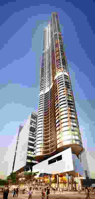 The Aspire tower designed by Bates Smart.