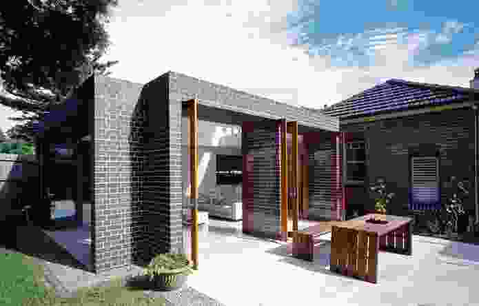 Kensington House, Sydney, NSW, 2007: A contemporary living area was created from the original Federation bungalow.