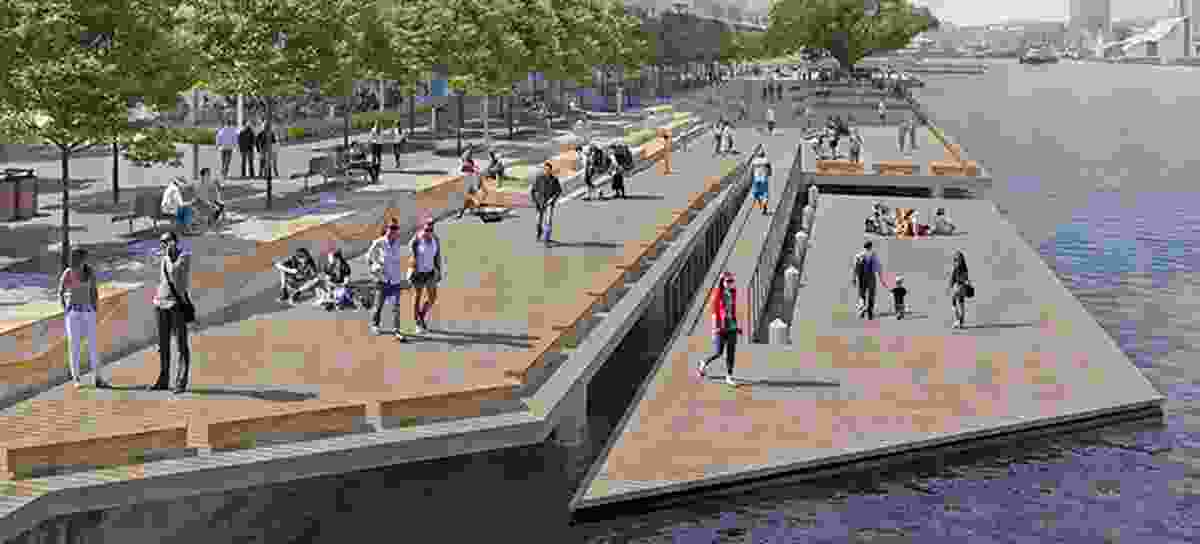 Proposed Wulugul walk, Barangaroo.