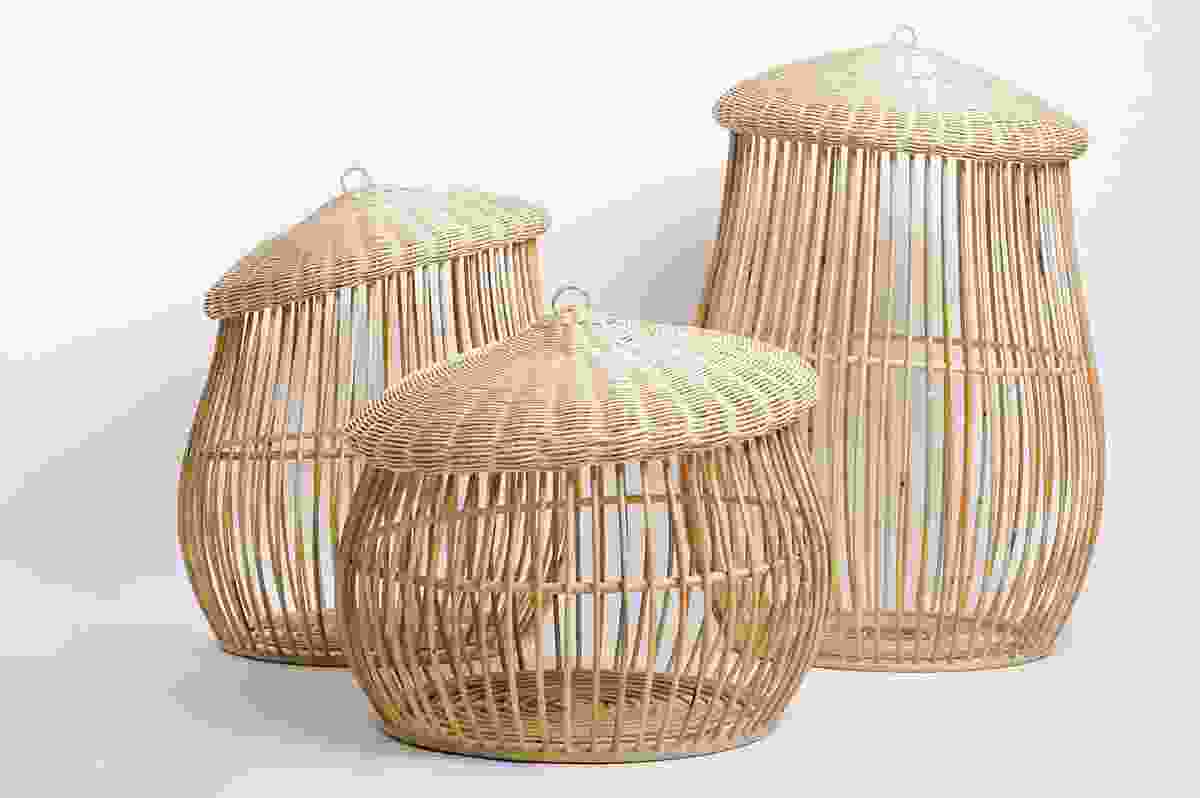 Button baskets.