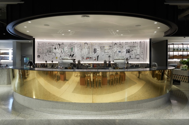 Brunetti Flinders Lane by Technē Architecture and Interior Design.