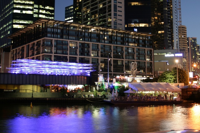 View of The Immersery from across the Yarra River.