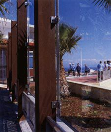 The glazed screen protects
