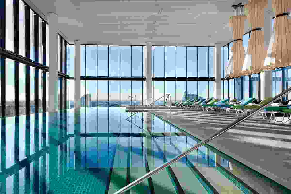 The luxurious pool at Melbourne's Crown Metropol by Bates Smart.