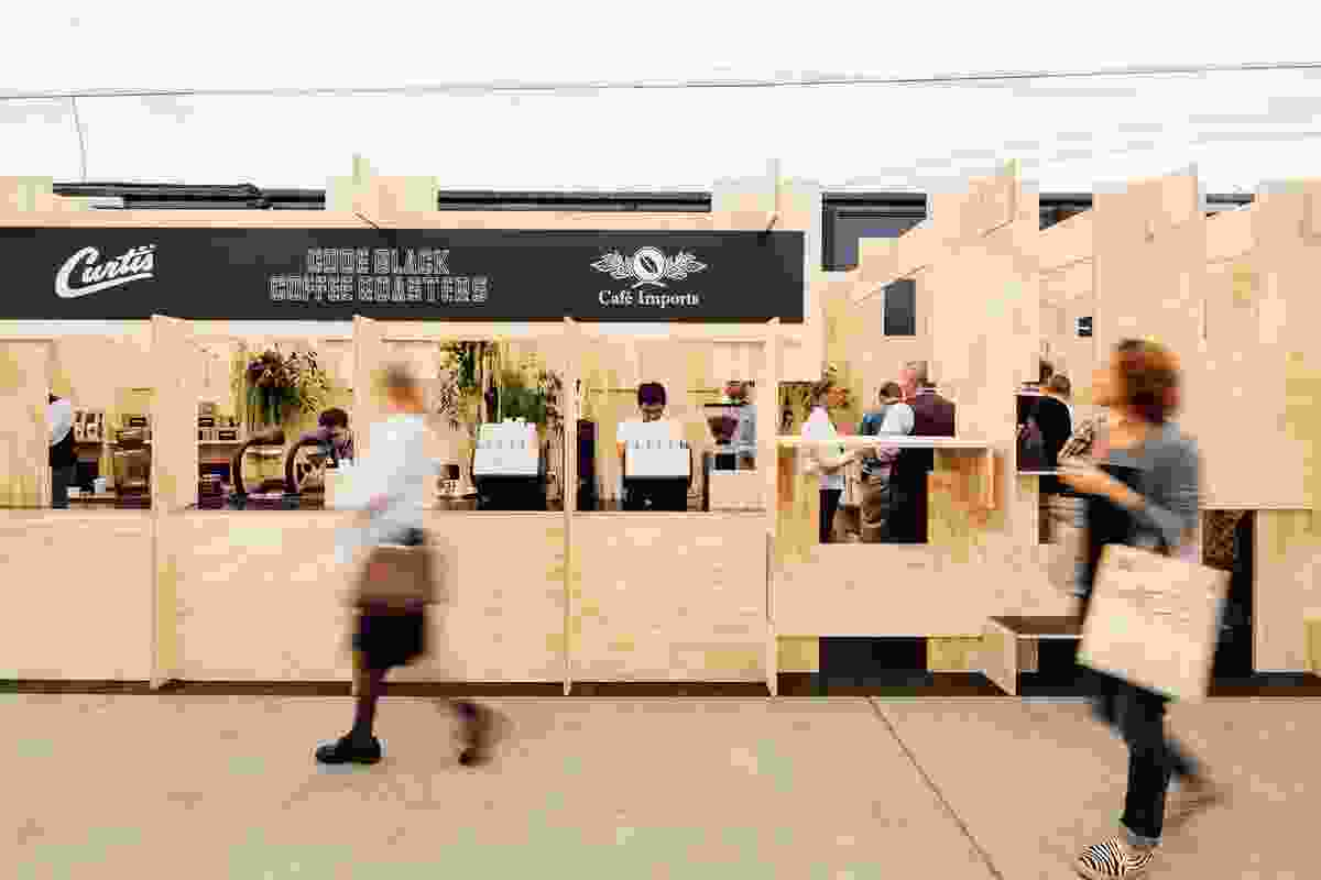 Code Black, Melbourne International Coffee Expo	 by ZWEI Interiors Architecture.