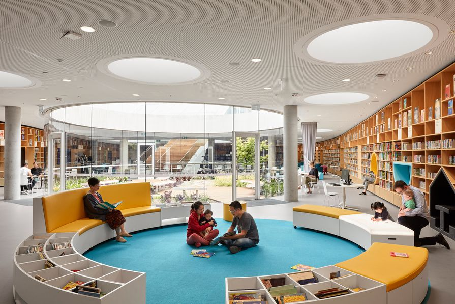 Green Square Library and Plaza by Studio Hollenstein in association with Stewart Architecture.