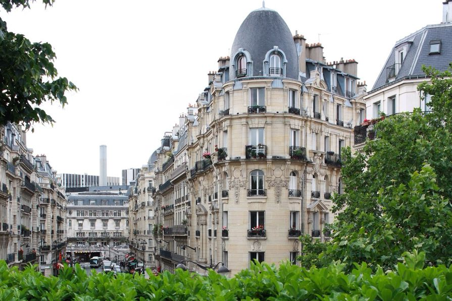 The Mansard roofs and decorative facades of central Paris lend it its distinctive personality.