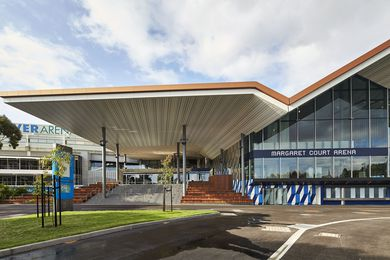 Margaret Court Arena designed by NH Architecture and Populous in joint venture.