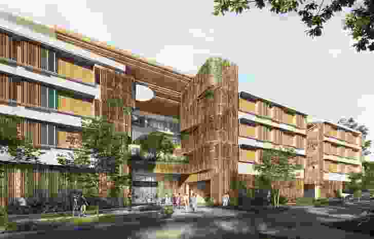 Proposed aged care facility at 15 Jephson Street by BVN and JFP Consultants.