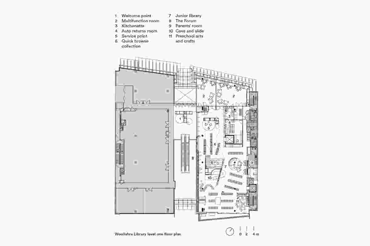 Plan of Woollahra Library by BVN.