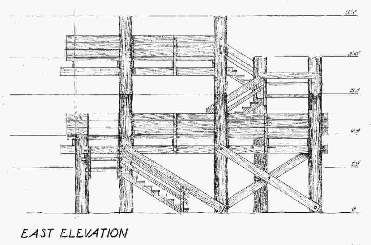 The timber deck at Illoura Reserve – note the imperial dimensioning of 1969.