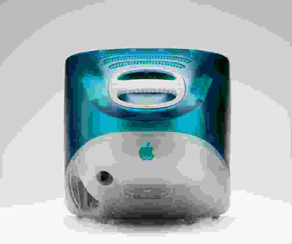 iMAC G3 Bondi Blue. Designed by Jonathan Ive, made by Apple, 1998.