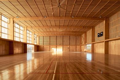 Pingelly Recreation and Cultural Centre by Iredale Pedersen Hook Architects with Advanced Timber Concepts Studio.