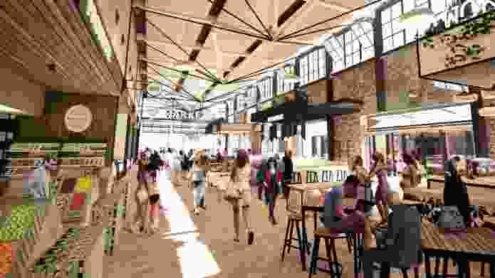 Hames Sharley's design for the rejuvenation of Subiaco's abandoned Pavilion Markets.