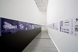 "The second primary gallery space, which exhibits ""maturation through a necessary confrontation with global economies""."
