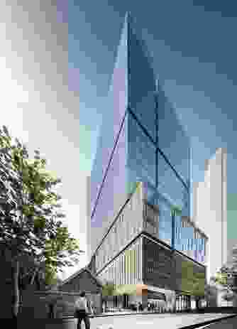 The proposed 22-storey tower the Wesley Place site by Cox Architecture.