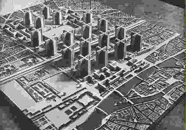 """柯布西耶乌托邦式的""""辐射城""""。"""