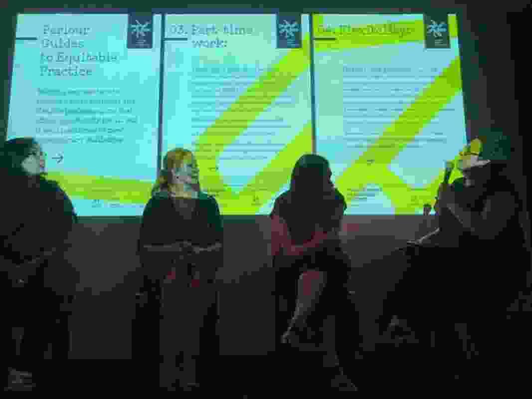 Justine Clarke of Parlour presents the organization's work.