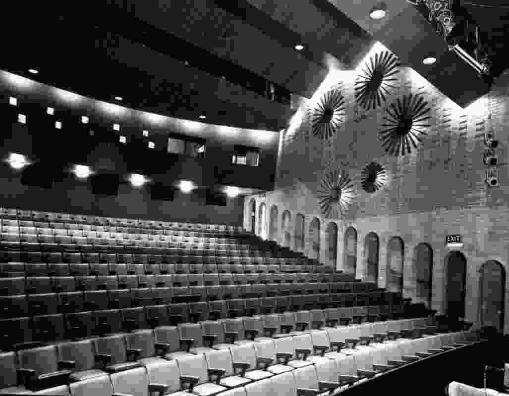 The interior of the Schonell Theatre, 1971.