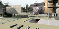 The winning entry for the Faculty of Law building by FJMT.