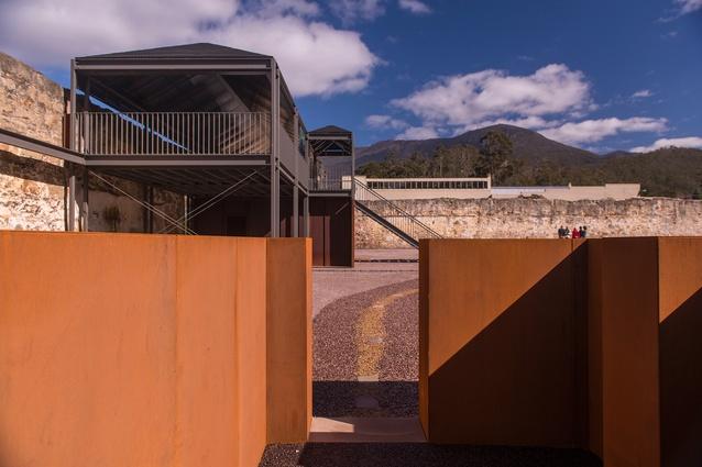 An internal courtyard at the Cascades Female Factory in Tasmania