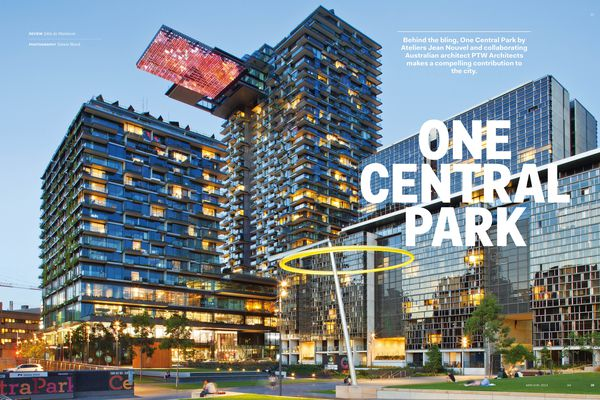 One Central Park by design architect Ateliers Jean Nouvel and Australian collaborating architect PTW Architects.